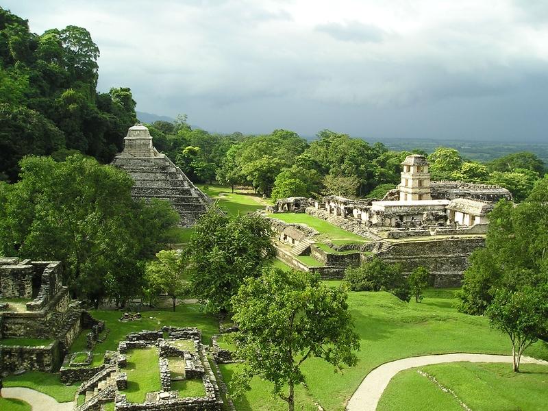 Le rovine di Palenque, la più affascinante e meno nota.